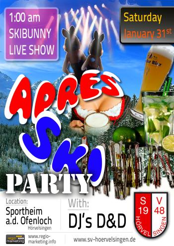 APRÈS SKI PARTY am 31.01.2015