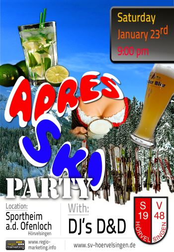 APRÈS SKI PARTY am 23.01.2016
